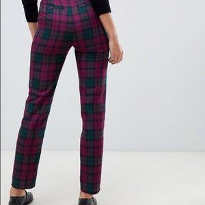 ASOS Purple and Plaid Slim Pants